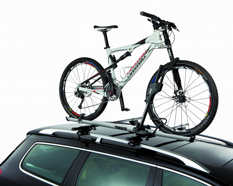 Roof top bike racks by Thule and RockyMounts